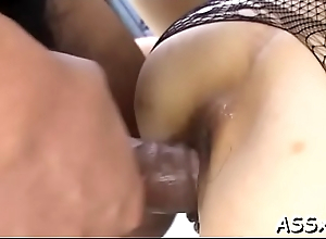 Submissive japanese darling gives astounding blowbang delight