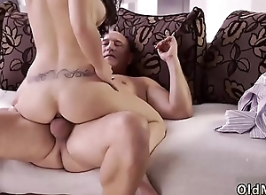 Huge tits anal threesome and old couple cuckold foot Mira and Bruno