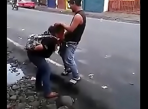 Colombian bitch making a blowjob in the middle of the road