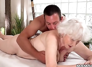 Old mom Norma enjoys sex tick massage