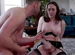 Bf bangs gf and her big tits front mom