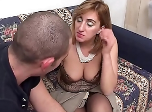 Distracted mother-in-law gets fucked by the brush stepson