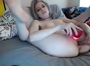 2 Toys inside her miserly pussy -&gt_ FREE REGISTER! www.getacamgirl.tk