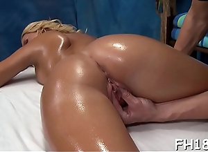 Cute 18 year aged gal gets fucked hard by her massage therapist