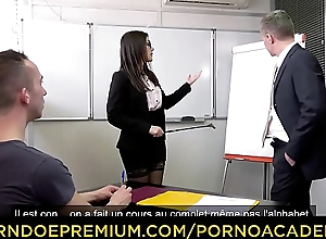 PORNO ACADEMIE - Double penetration sex for naughty teacher Valentina Nappi