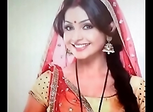 Actress ShubhangiAtre in red dress