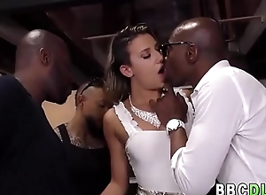 White Spread out Gets Hardcore ANAL GangBang By Big Stygian Cocks