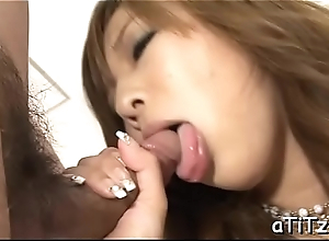 Stud gives wet creampie to hot asian playgirl with lovely tits
