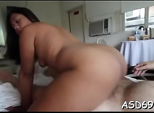 Fabulous oriental beauty goes hardcore with her hot paramour