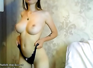 Webcam beauty got strapping boobs