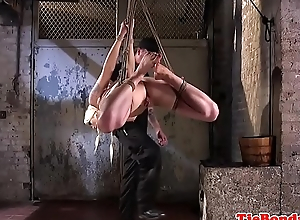 Submissive BDSM MILF gets punished by maledom