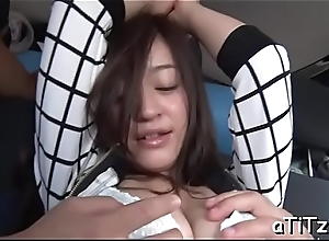 Superb japanese with beautiful knockers delights with oral coitus