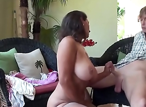 Stepmom teaches stepson sex tricks