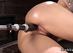 Huge tits alt babe in arms rides Sybian