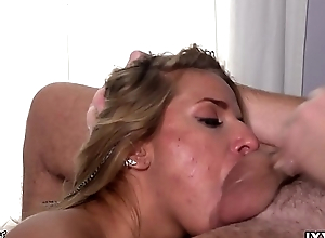 Sucking and licking the stinking balls Vira Gold and cum on my face