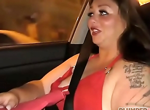 Sexy Plumper Vanessa London Most-liked up at Bus Stop and Fucked