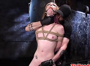 Gagged sub cutie punished by her versed
