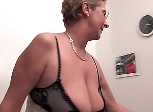 Gaspare has pierced his balls and fucks an elderly milf