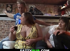 Biggest tits lady gets naked and gives head