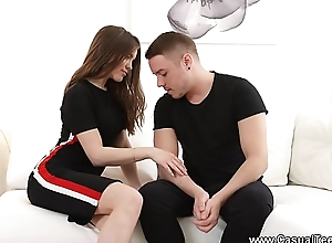 Casual Teen Sex - Mettlesome guy fucks eager babe Evelina Darling