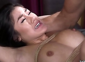 Asian whipped and anal fucked apropos bdsm