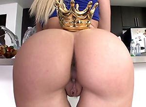 Surprising Anikka Albrite in blue top crowns awesome ass in the scullery