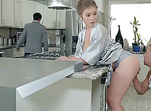 Lena Paul gets an infinity on her tits in the kitchen hardcore