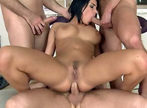 Guys do such XXX things for the first time with busty MILF Anissa Kate