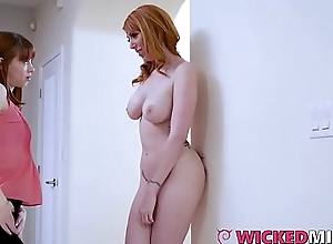 Big Titty Stepmom Lauren Phillips Shares Cock With Daughter