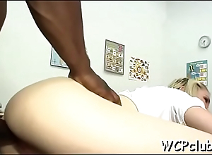 Slutty girl is not against of getting ebony dong in her butthole